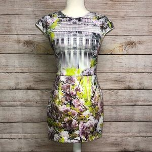 Ted Baker Window Blossom Fitted Dress